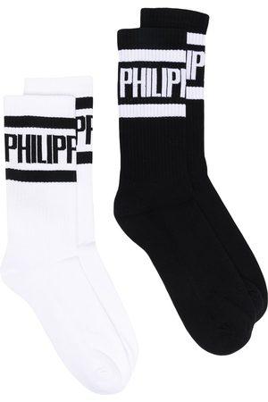 Philipp Plein Logo cotton socks