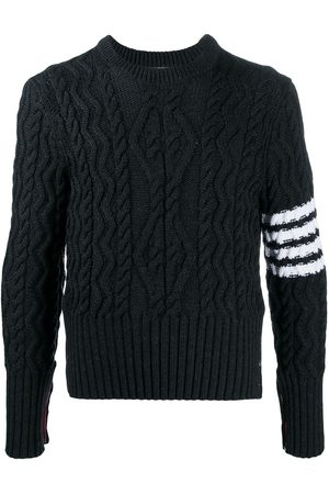Thom Browne 4-bar cable knit pullover
