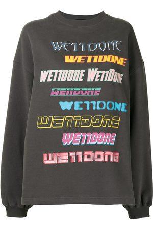 We11 Done Oversized logo print sweatshirt