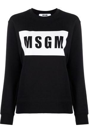 Msgm Logo-print long-sleeve sweatshirt