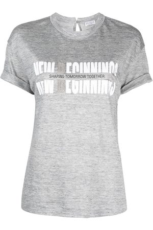 Brunello Cucinelli Slogan print T-shirt