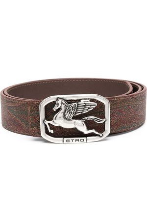 Etro Men Belts - Logo-buckle belt