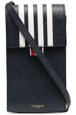 Thom Browne Men Phone Cases - 4-bar flap phone holder