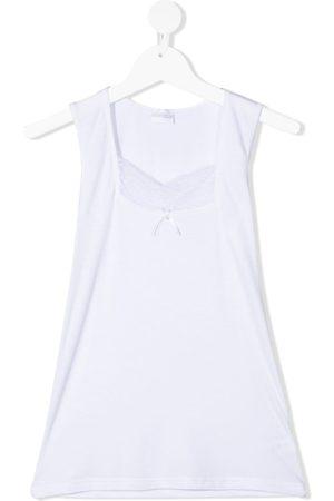 La Perla Girls Tank Tops - TEEN lace-panel sleeveless top