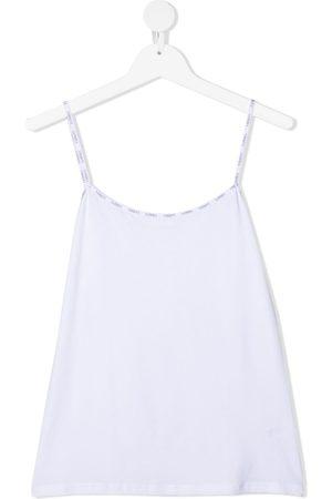 La Perla Kids Logo-trim sleeveless top