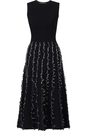Jason Wu Tulle-detailing knitted midi dress