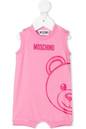 Moschino Teddy logo print romper