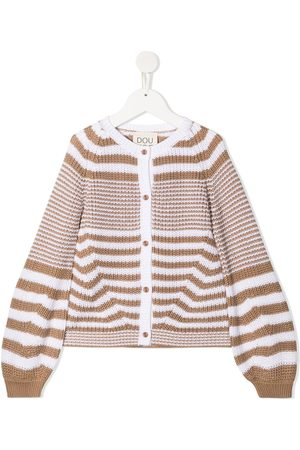DOUUOD KIDS Stripe-print knitted cardigan