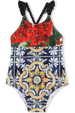 Dolce & Gabbana Mixed-print swimsuit