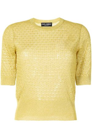 Dolce & Gabbana Pointelle-knit short-sleeve top