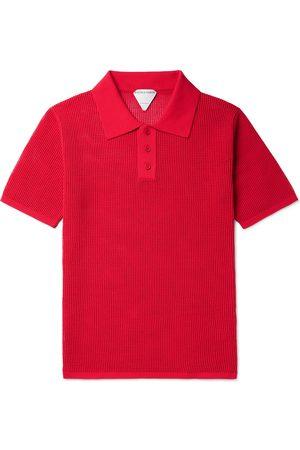 BOTTEGA VENETA Men Polo Shirts - Slim-Fit Open-Knit Polo Shirt