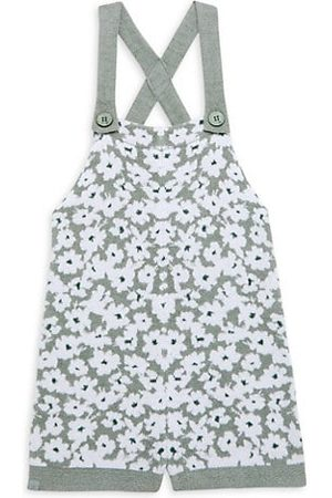 Barefoot Dreams Girls Playsuits - Little Girl's Floral Shortall