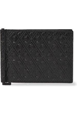 Saint Laurent Men Wallets - Logo-Debossed Leather Wallet with Money Clip