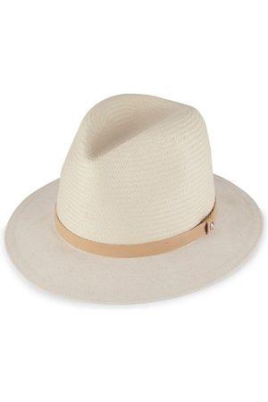 RAG&BONE Hats - Floppy Brim Straw & Canvas Fedora