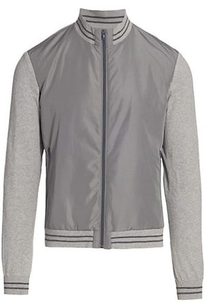 Saks Fifth Avenue COLLECTION Mixed-Media Bomber Jacket