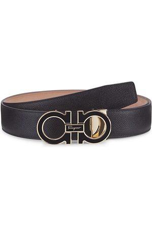 Salvatore Ferragamo Men Belts - Adjustable Gancini Buckle Leather Belt