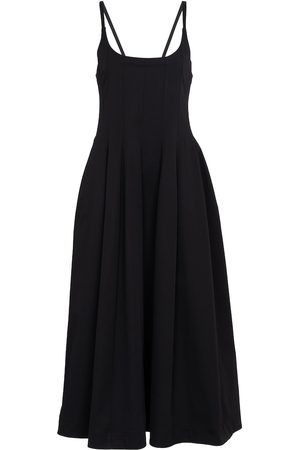 Jil Sander Cotton-blend midi dress