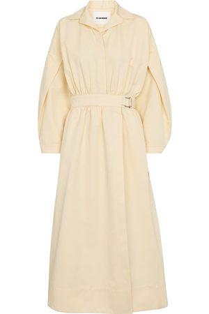 Jil Sander Cotton and silk midi dress