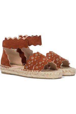 Chloé Lauren suede espadrille sandals