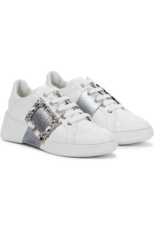 Roger Vivier Viv' Skate leather sneakers