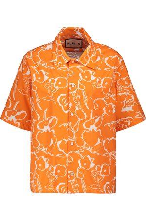 Plan C Women Short Sleeve - Floral cotton shirt