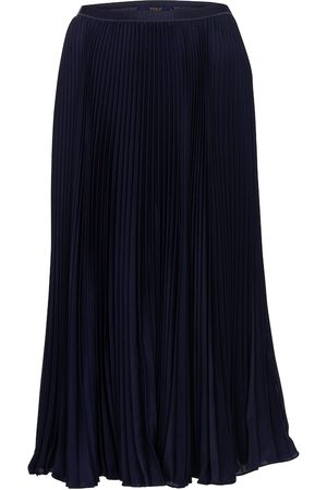 Polo Ralph Lauren Women Maxi Skirts - High-rise pleated maxi skirt