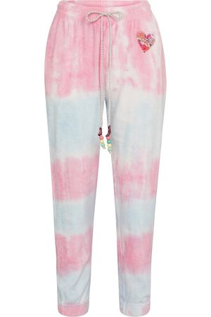 LOVESHACKFANCY Santinella tie-dye cotton trackpants