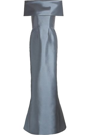 Catherine Regehr Off-The-Shoulder Silk & Wool Gown