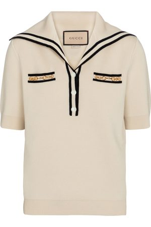 Gucci Embellished wool top