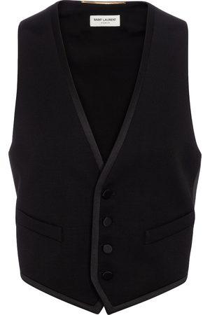 Saint Laurent Wool grain de poudre vest