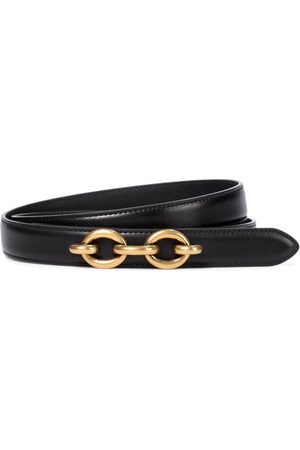 Saint Laurent Chain-embellished leather belt
