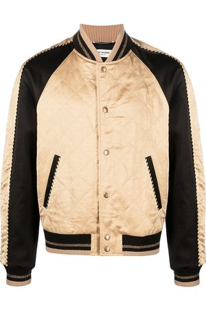 Saint Laurent Diamond pattern bomber jacket