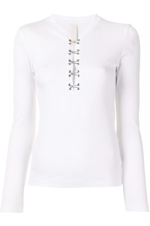 DION LEE Women Long Sleeve - Hook-detail long sleeve top
