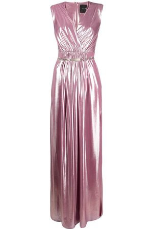 John Richmond Metallic gathered gown