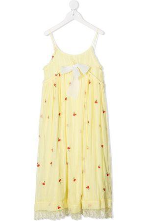 Chloé Floral shift silk dress