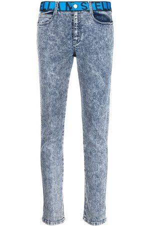 Stella McCartney Logo-waistband slim-fit jeans