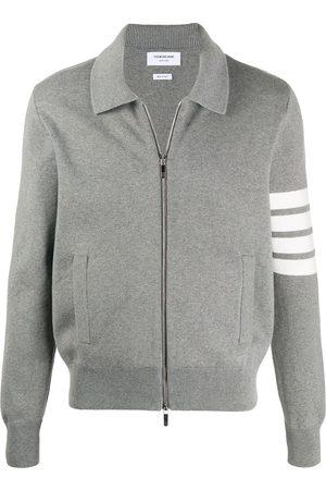 Thom Browne Cotton knit zip jacket