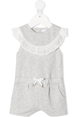 Chloé Lace-trimmed sleeveless romper