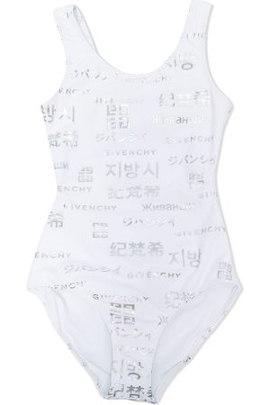 Givenchy Girls Swimsuits - Logo-print one-piece