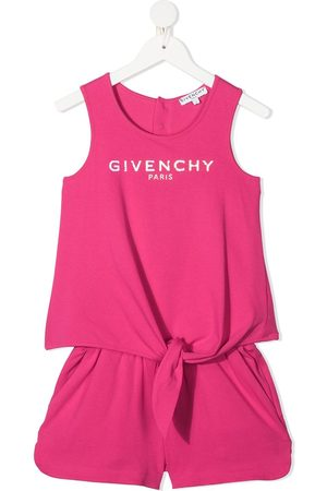 Givenchy Girls Jumpsuits - Logo-print two-piece set