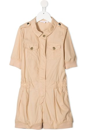 Chloé Girls Short Sleeve - Short-sleeve cotton playsuit