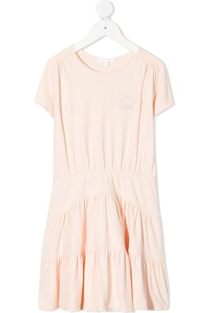 Chloé Girls Casual Dresses - Logo shift T-shirt dress