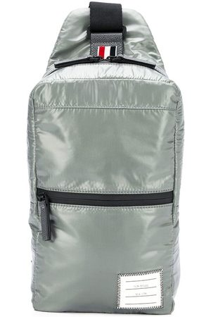 Thom Browne Men Rucksacks - Logo patch crossbody backpack