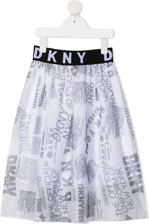 DKNY Girls Printed Skirts - Graphic-print tulle skirt