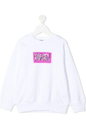 Diesel Kids Brave print sweatshirt