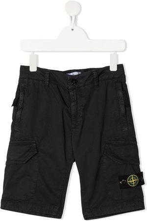 Stone Island Junior Boys Shorts - Logo patch shorts