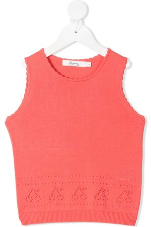 BONPOINT Knitted perforated cherry vest