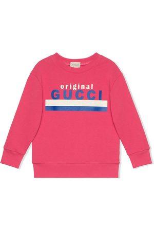 Gucci Girls Sweatshirts - Logo-print sweatshirt