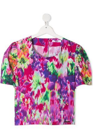 Msgm TEEN button back T-shirt