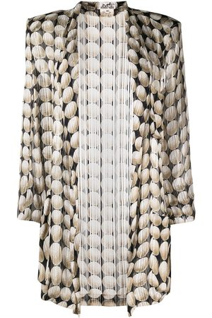 Hermès 1990s geometric patterned elongated silk jacket
